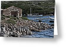 Roman Port Of Sa Nitja In Minorca - Stone And Sea Greeting Card