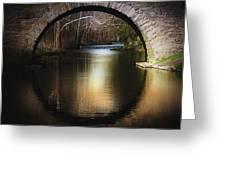 Stone Arch Bridge - Brick Texture Greeting Card