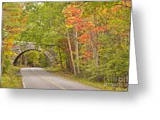 Stone Arch Bridge In Acadia National Park Greeting Card