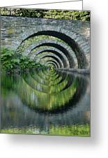 Stone Arch Bridge Over Troubled Waters - 1st Place Winner Faa Optical Illusions 2-26-2012 Greeting Card