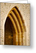 Stone Archway At Tower Hill Greeting Card
