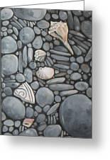 Stone Beach Keepsake Rocky Beach Shells And Stones Greeting Card