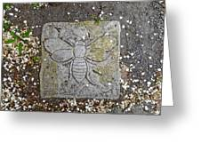 Stone Bee In Jim Thorpe Pa Greeting Card