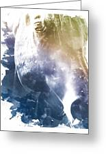 Stone Blue Mare Greeting Card by Diana Shively