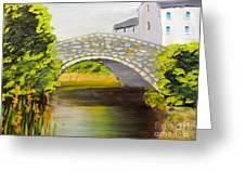 Stone Bridge At Burrowford Uk Greeting Card
