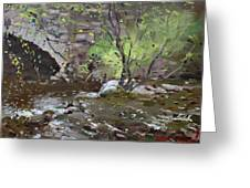 Stone Bridge At Three Sisters Islands Greeting Card