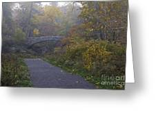 Stone Bridge In Autumn 3 Greeting Card