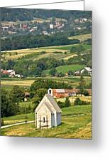 Stone Church In Green Nature Greeting Card