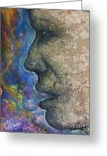 Stone Face Greeting Card
