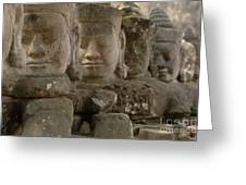 Stone Figures Cambodia Greeting Card