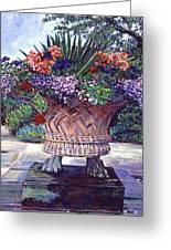 Stone Garden Ornament Greeting Card by David Lloyd Glover