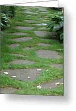 Stone Garden Walkway Greeting Card