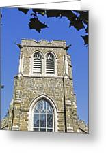 Stone Gothic Church Greeting Card