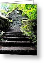 Stone House Stairs Greeting Card by Lizbeth Bostrom