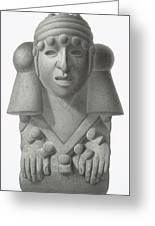 Stone Idol Of The Rain God Cocijo Greeting Card