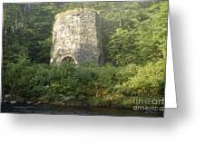 Stone Iron Furnace - Franconia New Hampshire Greeting Card