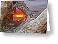 Stone Lagoon Sunset Greeting Card