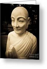 Stone Monk Greeting Card