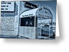 Stone Pony Cool Blue Greeting Card