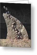 Stone Sculpture Before The Forest Greeting Card