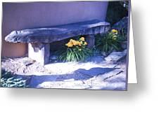 Stone Slab Bench 1 Greeting Card