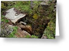 Stone Slid Away Greeting Card