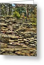 Stone Spring At Woodward Park 1 Greeting Card