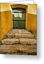 Stone Stair Entranceway  Greeting Card