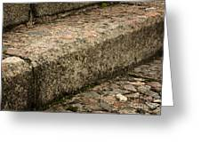 Stone Stairs Fragment Greeting Card