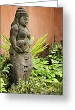 Stone Statue In Bali Indonesia  Greeting Card