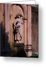 Stone Statue Woman  Greeting Card
