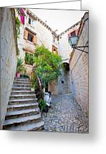 Stone Streets Of Old Trogir Greeting Card