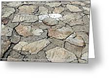Stone Walkway At Old Fort Niagara Greeting Card