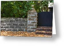 Stone Wall And Gate Greeting Card