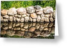 Stone Wall Reflection Greeting Card