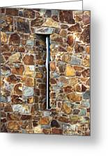 Stone Wall-small Window Greeting Card