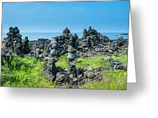 Stone Walls Made By Tourists Greeting Card