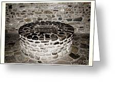 Stone Well At Old Fort Niagara Greeting Card