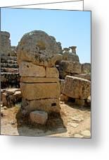 Stone Work Selinunte Greeting Card