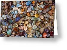 Stoned Stones Greeting Card by Omaste Witkowski