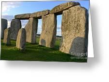 Stonehenge And Shadows Greeting Card