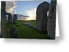 Stonehenge At Dusk Greeting Card