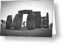 Stonehenge In Black And White Greeting Card