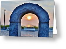 Sunrise Through The Arch - Rehoboth Beach Delaware Greeting Card