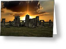 Stonehenge Wiltshire Uk Greeting Card