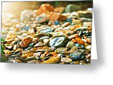 Stones Greeting Card by Debbie Sikes