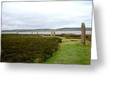 Stones In Arc Of Ring Of Brodgar Greeting Card