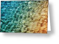 Stones In The Sea Greeting Card