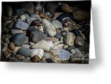 Stones On Beach Greeting Card