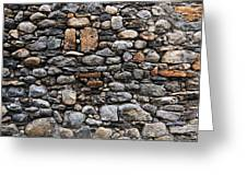 Stones Wall Greeting Card